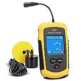 LUCKY Buscadores de Pescado Alarma 100M / 328ft Sensor de Sonar portátil de Pesca con Cable LCD...