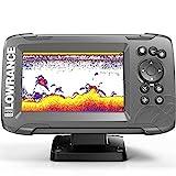 Lowrance HOOK2-5X Hook2 GPS Splitshot HDI - Localizador de Peces (5'), Color Negro